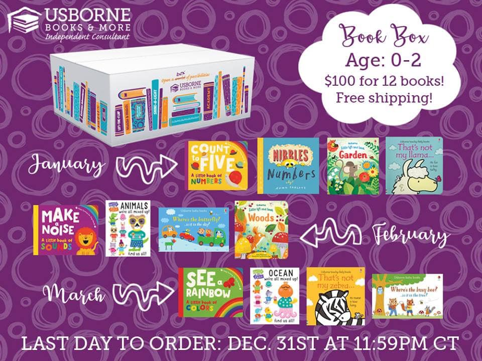 Book Box Subscription for Ages 0-2! $100 for 12 books and free shipping. 3 boxes delivered straight to your door in January, February, and March, available to order until December 31, 2018. Resolve to read in 2019! || Jaime's Book Corner