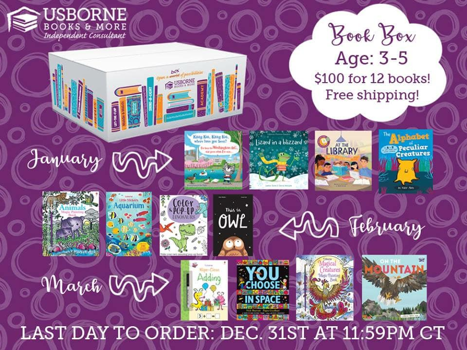 Book Box Subscription for Ages 3-5! $100 for 12 books and free shipping. 3 boxes delivered straight to your door in January, February, and March, available to order until December 31, 2018. Resolve to read in 2019! || Jaime's Book Corner