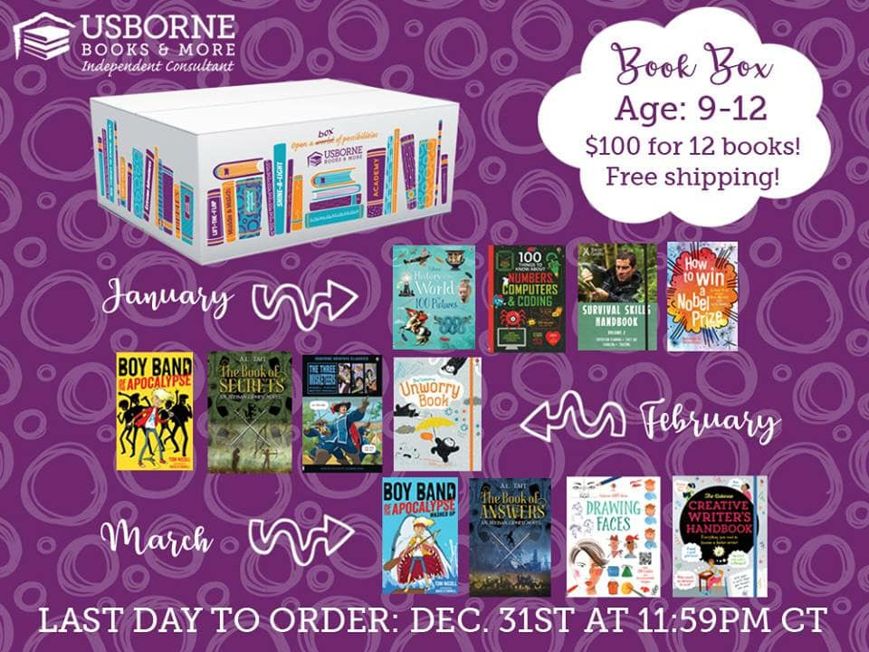Book Box Subscription for Ages 9-12! $100 for 12 books and free shipping. 3 boxes delivered straight to your door in January, February, and March, available to order until December 31, 2018. Resolve to read in 2019! || Jaime's Book Corner