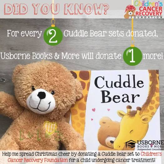 Cuddle Bear Book Drive to support the Children's Cancer Recovery Foundation | Jaime's Book Corner