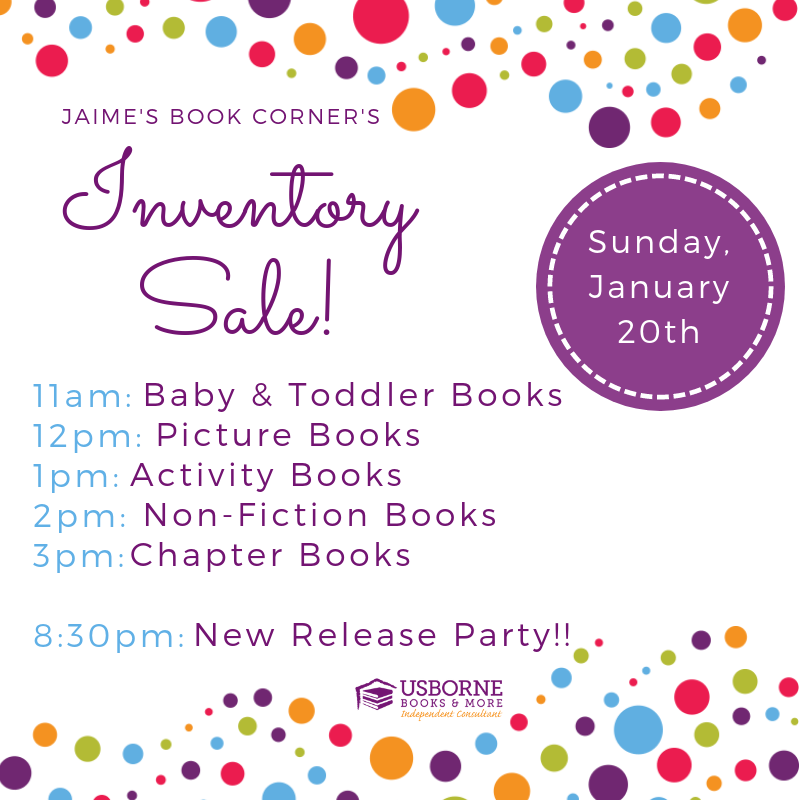 Online Book Sale - January 20th, 2019 11am-3pm || Jaime's Book Corner