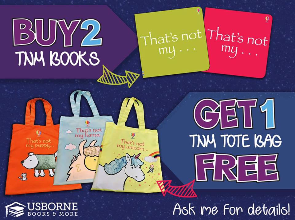 Buy any 2 That's not my... books, get a free tote bag! For a limited time!
