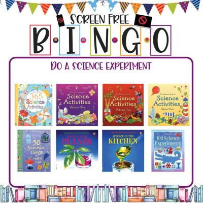 Book/Activity Pairings: Do a Science Experiment || Screen-Free BINGO