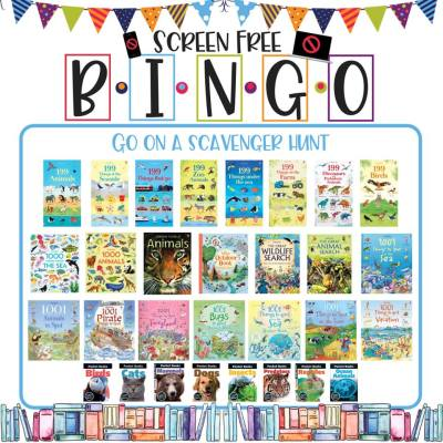 Book/Activity Pairings: Go on a Scavenger Hunt || Screen-Free BINGO