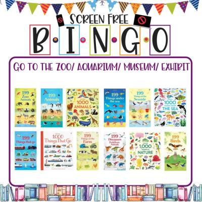 Book/Activity Pairings: Go to the Zoo/Aquarium/Museum/Exhibit || Screen-Free BINGO