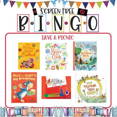 Book/Activity Pairings: Have a Picnic || Screen-Free BINGO