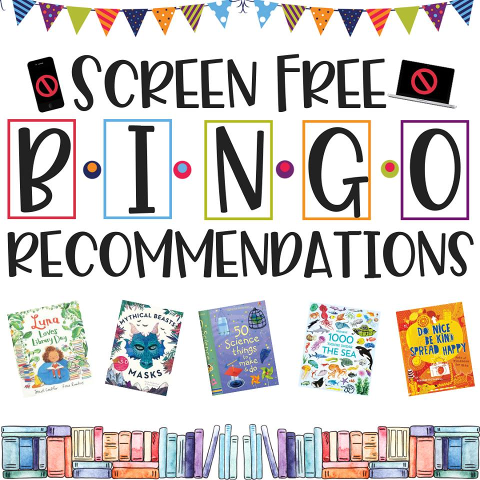 Screen-Free BINGO Book Recommendations