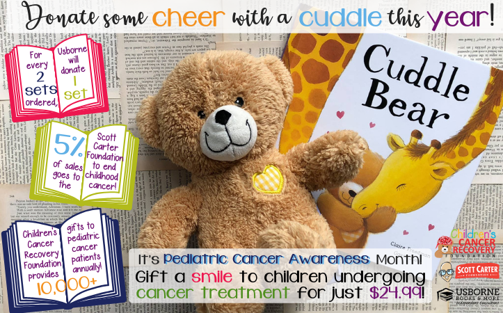 Cuddle Bear Book Drive for Pediatric Cancer Awareness Month - Jaime's Book Corner