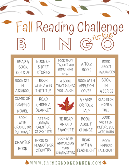 Get your children reading this fall with a fun themed BINGO!