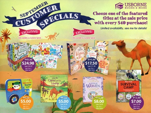 Usborne Books & More Customer Specials