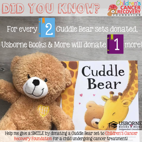 Cuddle Bear Book Drive for CCRF - Usborne Books & More matches your donation 50%!!