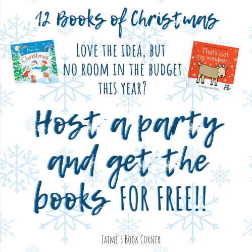 Host a party to earn your 12 Books of Christmas for FREE! - Jaime's Book Corner