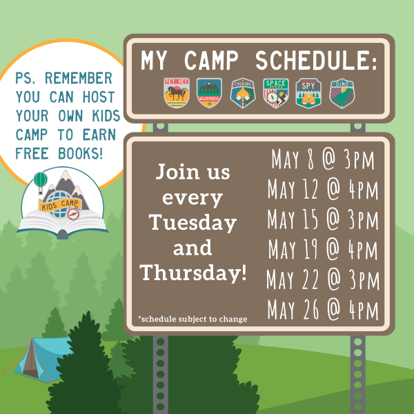 Free Online Kids Camps - May 2020 with Jaime's Book Corner