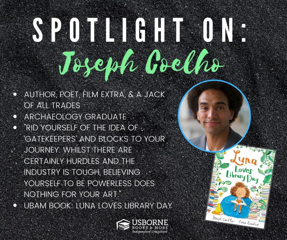 Joseph Coelho, author of Luna Loves Library Day [] Jaime's Book Corner