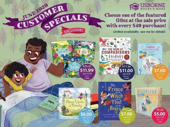 June Customer Specials [] Jaime's Book Corner